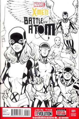 X men battle of the atom sketch cover por ToddNauck