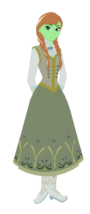 anna green  (disney. Princess)