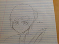 bad drawing of kirito - sword-art-online fan art