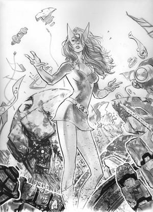 commission Marvel Girl Inks sejak marciotakara