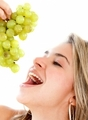 eating grapes - fruit photo