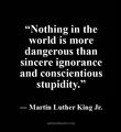 ignorance and stupidity - martin-luther-king-jr fan art
