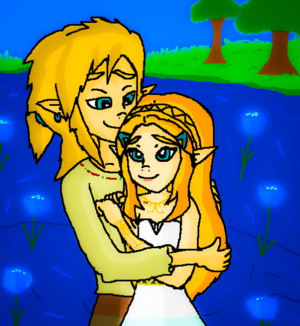 link and princess zelda breath of the wild shine
