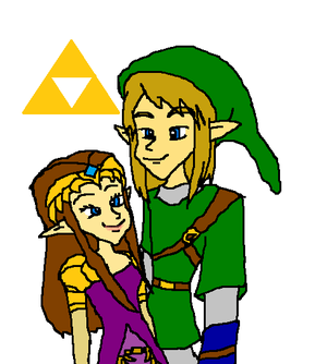 link and zelda together