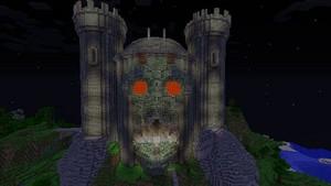 minecraft castles skull