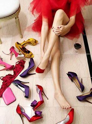 pretty high heels