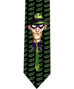 riddler batman tie 2 detail
