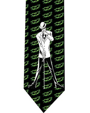 riddler Batman tie 3 detail
