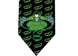 riddler batman tie 4 detail
