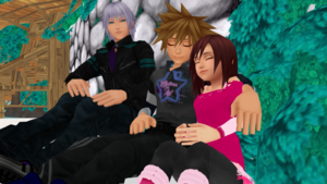 sora and kairi sleep dreams with riku