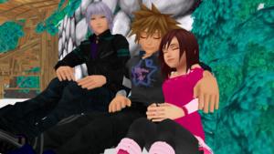 sora and kairi sleep dreams with riku