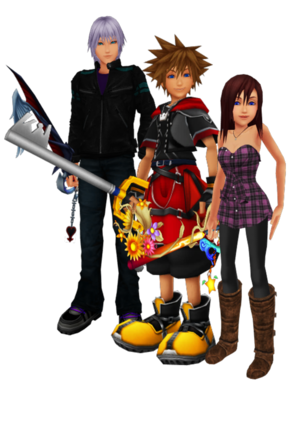 sora riku and kairi are best বন্ধু together