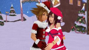 sora x kairi  christmas town  sokai day