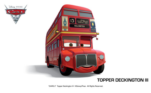 Disney Pixar Cars karatasi la kupamba ukuta entitled topper deckington iii