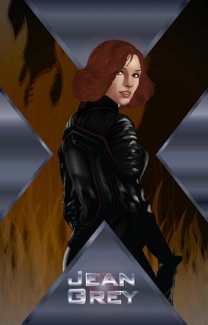 x2 Jean Grey por davidgozu