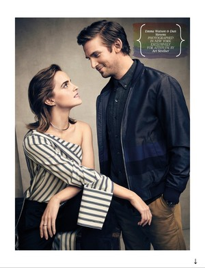 Emma Watson and Dan Stevens cover Attitude UK (April 2017)