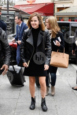 Emma Watson at Gare du Nord in Paris [February 21, 2017]