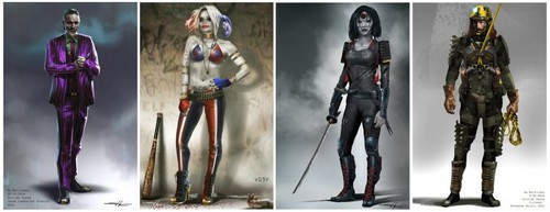 Suicide Squad fondo de pantalla called 'Suicide Squad' Concept Art ~ The Joker, Harley Quinn, Katana and Slipknot