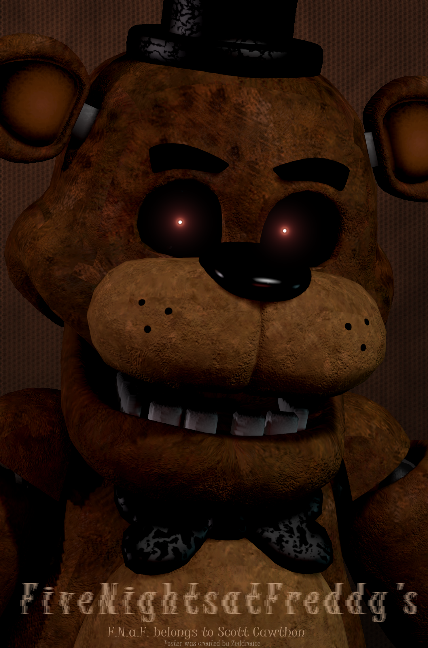 sfm five nights at freddy s poster hd द्वारा zeddreace dawbjfl 1