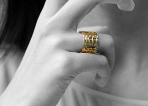 18k goud Ring with Double Happiness motifs Wedding Rings Chinese Jewellery Vulcan Jewelry