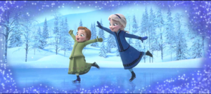 cute elsa and anna as kids