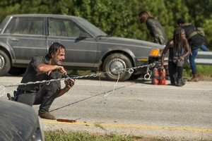 7x09 ~ Rock in the Road ~ Rick, Michonne, Hesus and Sasha