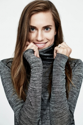Allison Williams photoshoot for Vince Holiday Campaign 2015
