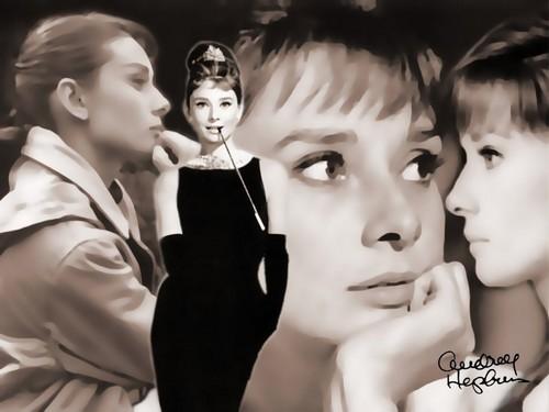 Audrey Hepburn wallpaper called Audrey Hepburn,Wallpaper
