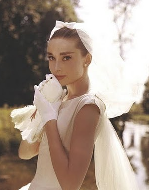 Audrey In Her Wedding Dress