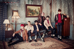 B.A.P radiate charisma in a group teaser image for 'Rose'