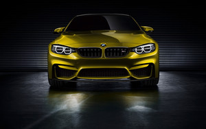 bmw M4 coupe, cupé Concept 2013 (Golden) Front View