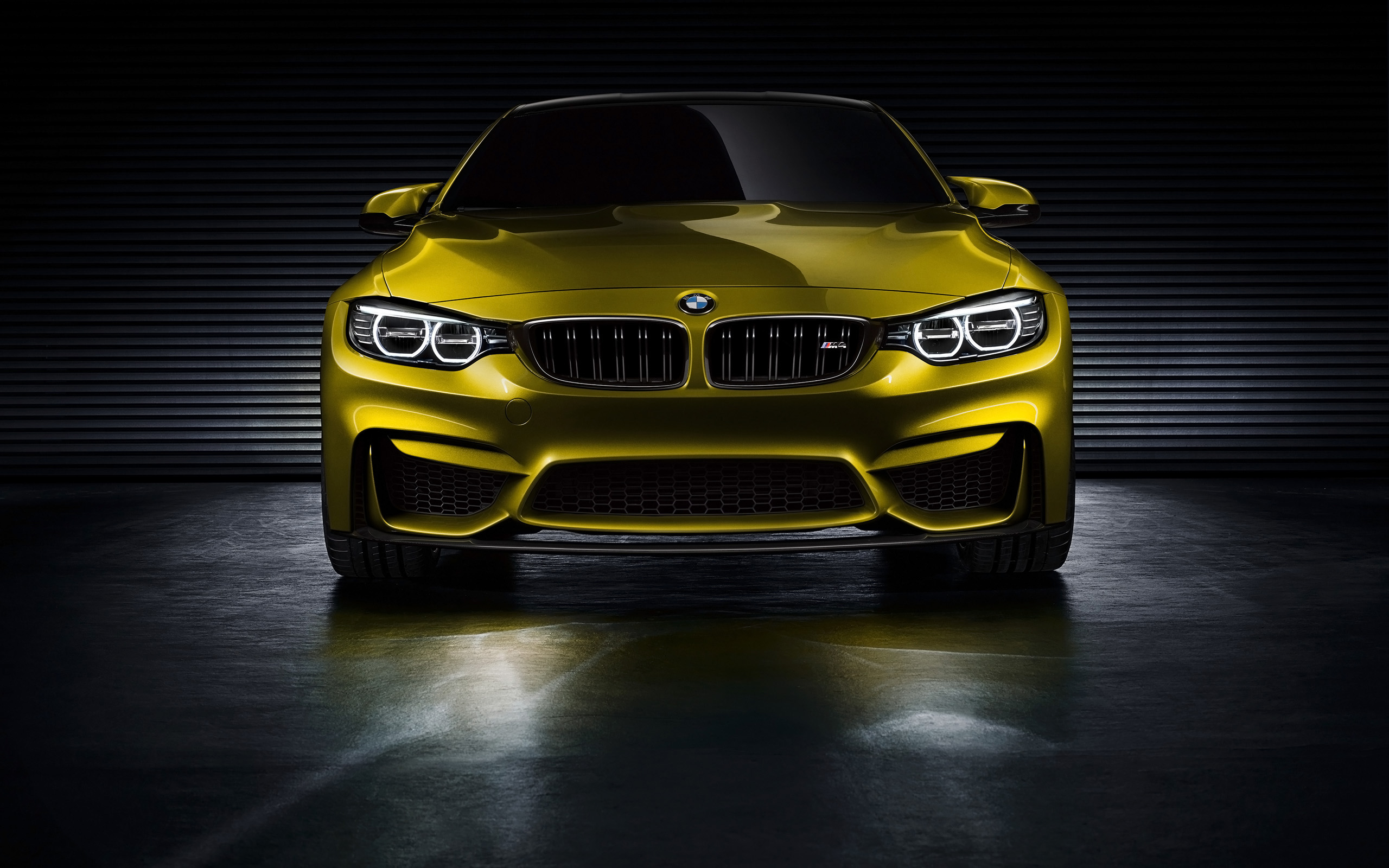 Bmw M4 Coupe Concept 2013 Golden Front View Bmw