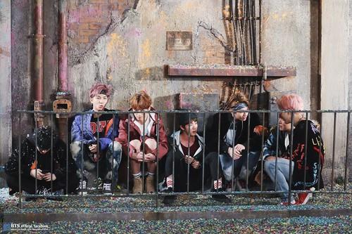 BTS wallpaper entitled BTS 'You Never Walk Alone' Album Photoshoot Sketch