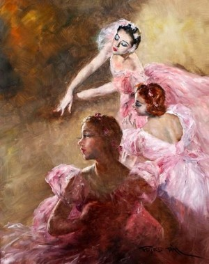 Ballerinas In Art
