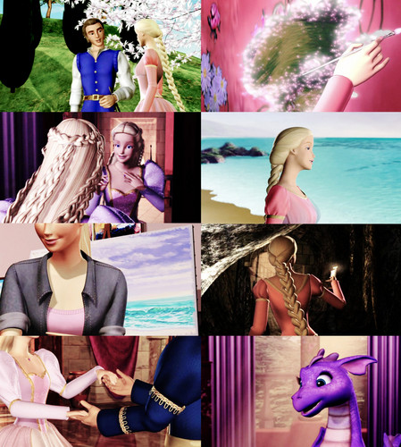 Barbie's Animated Films karatasi la kupamba ukuta called Barbie as Rapunzel