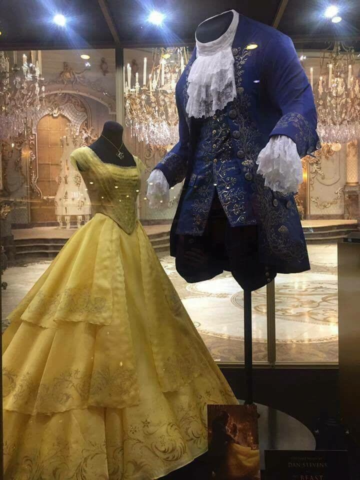 Belle and the Beast costumes on display