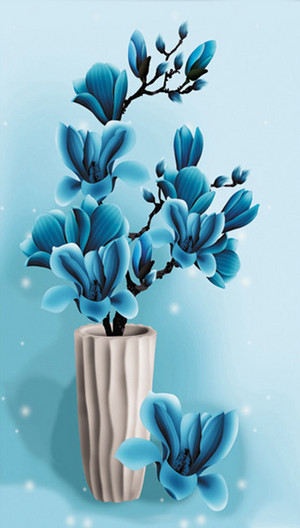 Blue magnolia Flowers