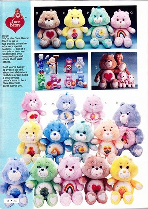 Care Bears plush and figurines advertisement