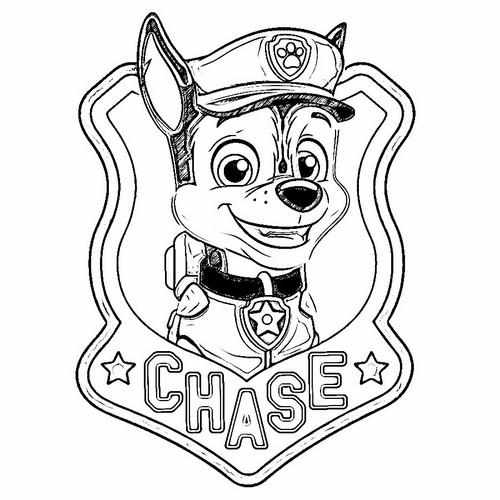 PAW Patrol karatasi la kupamba ukuta entitled Chase - Photomania