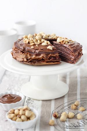 chokoleti Crepes Cake