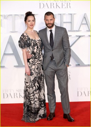 Dakota Johnson and Jamie Dornan Pair Up For 'Fifty Shades Darker' Premiere in London