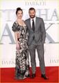 Dakota Johnson and Jamie Dornan Pair Up For 'Fifty Shades Darker' Premiere in London - fifty-shades-of-grey photo