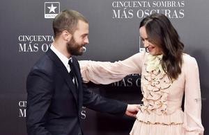 Dakota Johnson and Jamie Dornan at the Fifty Shades Darker Premiere in Madrid, Spain [Feb. 8th].