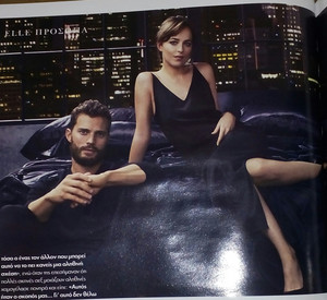 Dakota and Jamie Elle Greece photoshoot promoting Fifty Shades Darker