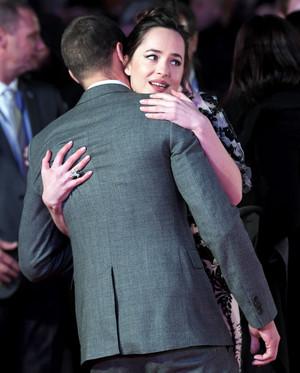 Dakota and Jamie at ロンドン premiere of Fifty Shades Darker