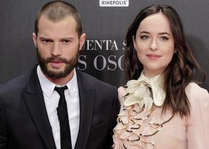 Dakota and Jamie at Madrid premiere of Fifty Shades Darker
