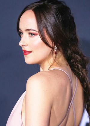 Dakota at the L.A. premiere of Fifty Shades Darker