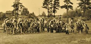 Dancers at the Lac du Flambeau Chippewa Indian Bowl 1958