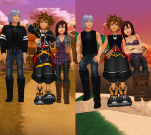 Destiny Trios Sora Kairi and Riku MMD