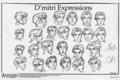 Dimitri Model Sheet - anastasia photo